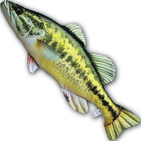 GABY Plyšový polštář Black Bass 67cm