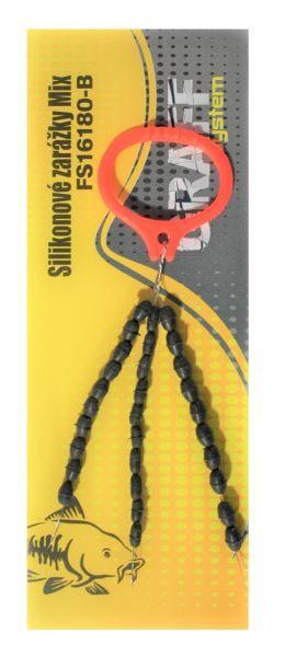 Silikonové zarážky černé Mix Graffishing