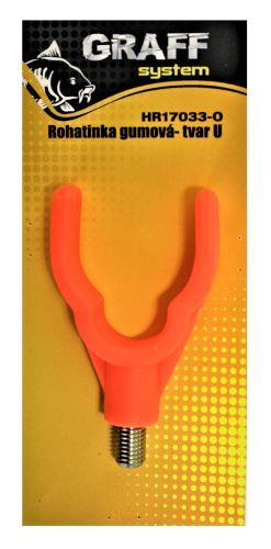 Gumová rohatinka - tvar U oranžová Graffishing