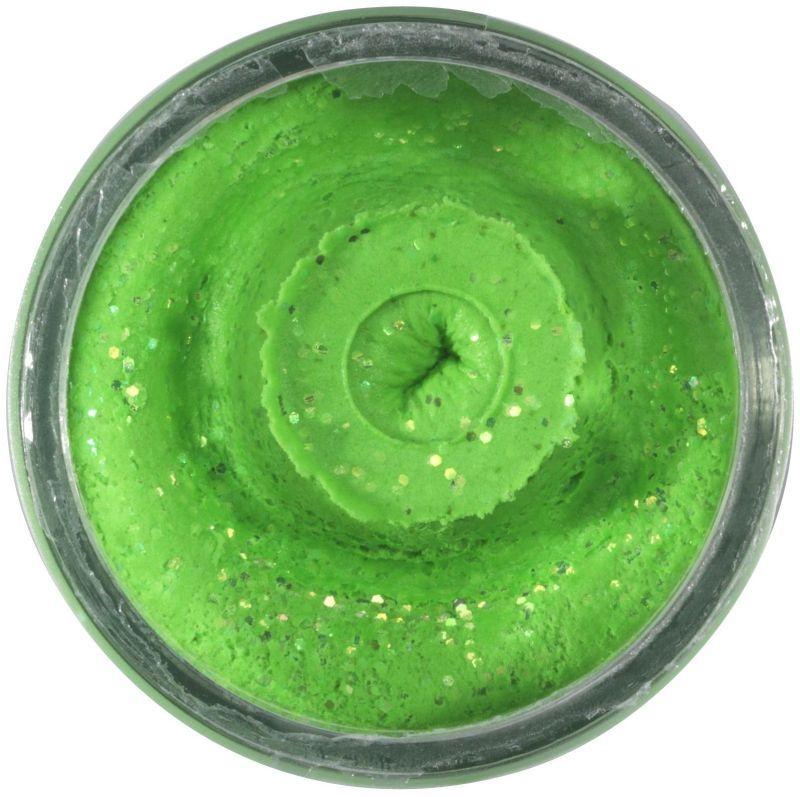POWERBAIT NATURAL GLITTER TROUT BAIT GARLIC 50G SPRING GREEN Berkley