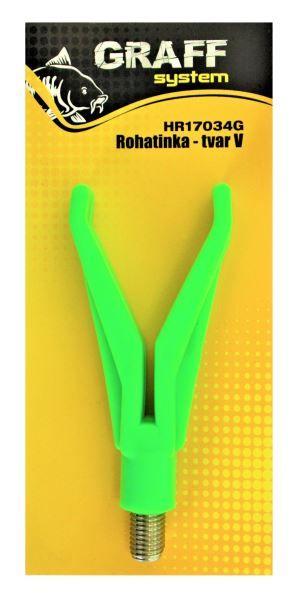 Rohatinka plastová - tvar V zelená Graffishing