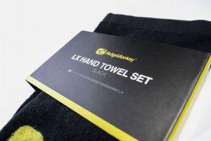 RidgeMonkey: Ručník LX Hand Towel Set Black 2ks