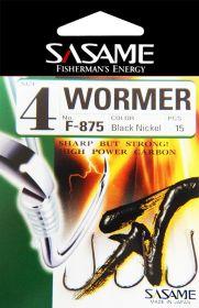 Háček s očkem Sasame Wormer   velikost 4, velikost 6, velikost 8, velikost 10