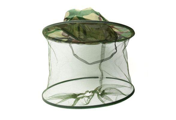 Maskáčový klobouk s moskytiérou