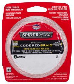 SPIDER STEALTH Splétaná šňůra 110M ČERVENÁ Spiderwire