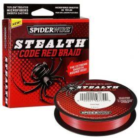 SPIDERWIRE Splétaná Šňůra Stealth Code Red Braid Červená 110 m