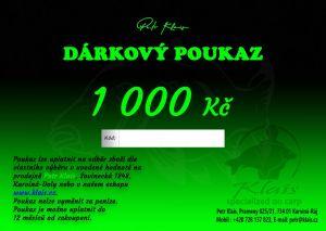 Elektronický dárkový poukaz Petr Klais v hodnotě 1000 Kč