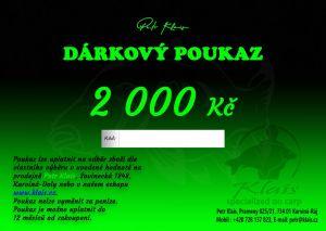 Elektronický dárkový poukaz Petr Klais v hodnotě 2000 Kč