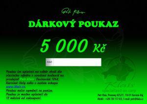 Elektronický dárkový poukaz Petr Klais v hodnotě 5000 Kč