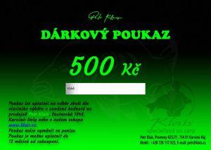 Elektronický dárkový poukaz Petr Klais v hodnotě 500 Kč